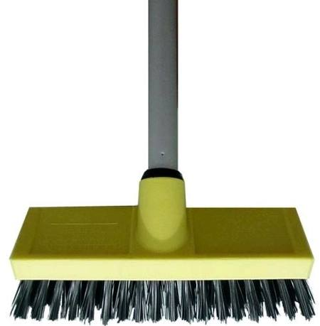 STRONG BRISTLE FLOOR SCRUB 200mm - COMPLETE