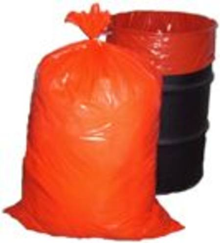 RUBBISH BAG - ORANGE JUMBO HD 300 BAGS -  800 X 1200