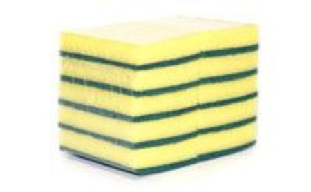 Buy CLEANING SPONGE - GREEN/YELLOW SCOURER PKT 10 in NZ.